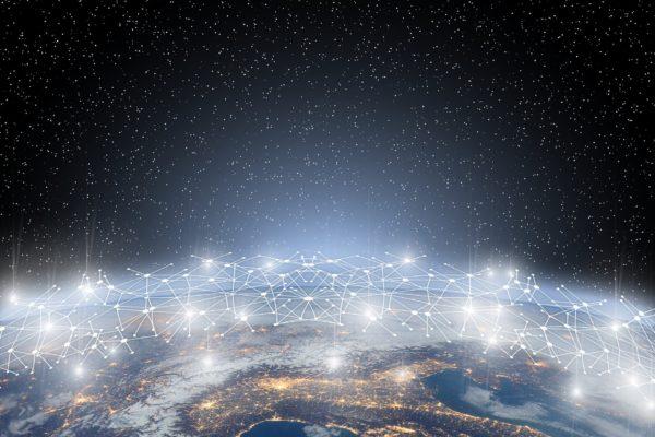 Image de la Terre et des réseaux qui y circulent